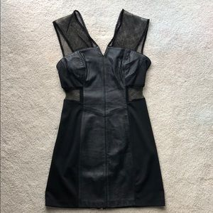 Vice Veda X UO Leather Mesh Dress